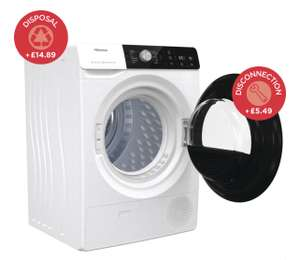 Hisense DHGA901NL, 9kg Heat Pump Tumble Dryer A++ Rating in White £399.99 at Costco