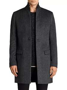 AllSaints Bodell Wool Tailored Coat, Charcoal Grey £146 at John Lewis & Partners