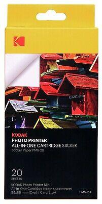 Kodak Photo Printer Black & Tri-Colour Ink Cartridge with Paper (Credit Card Size) - £3.99 @ Argos/Ebay