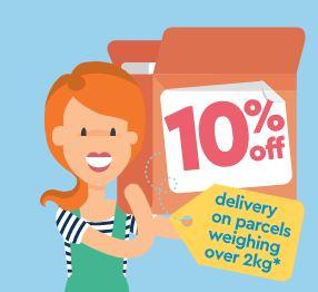 Get 10% off delivery on parcels over 2kg until 14th March 2021 @ Hermes