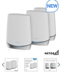 Netgear Orbi RBK753 Whole Home Wifi 6 System - £499.99 delivered @ Costco