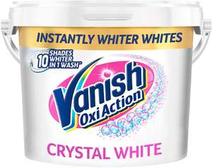 Vanish Fabric Stain Remover Gold Oxi Action Powder, Crystal White, 2.4 kg £10.59 + £4.49 NP @ Amazon