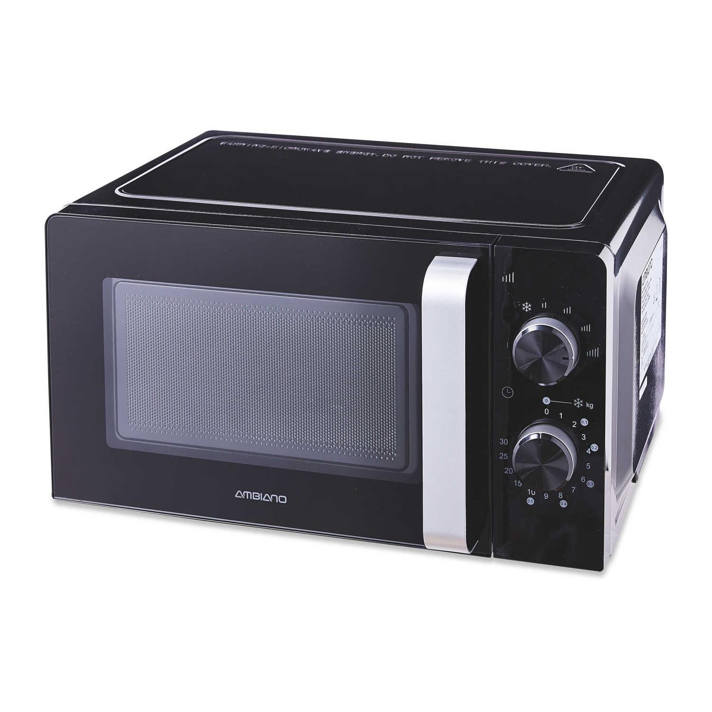 Ambiano Black / Silver Microwave Oven 17L - 700w with 3 Year Warranty £34.99 @ Aldi