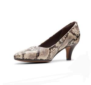 Linvale Jerica Taupe Snake court shoes £19.50 (£3.95 delivery @ Clarks)
