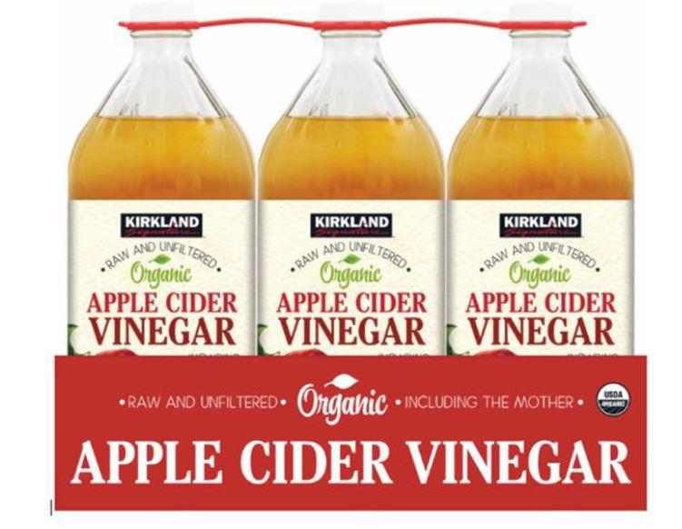 Kirkland Signature Organic Apple Cider Vinegar, 3 x 946ml £5.99 at Costco