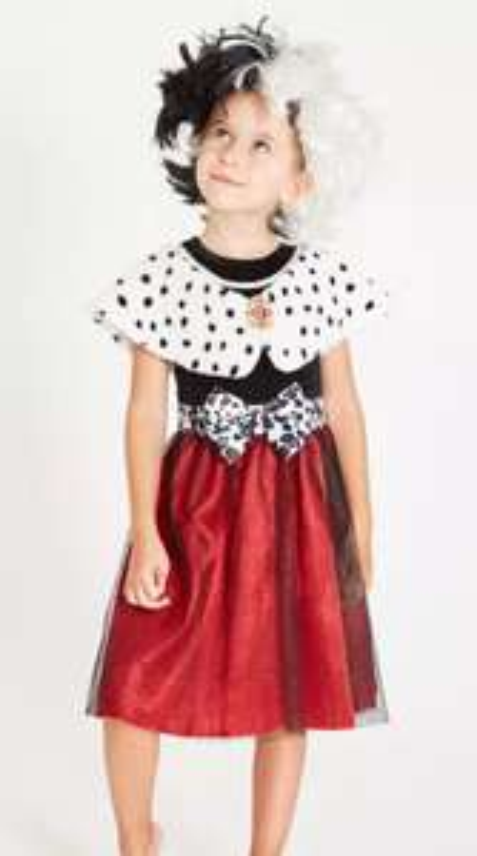 Disney 101 Dalmatians Cruella Dress & Wig - 5-6 years £7.50 + £3.95 del at Argos