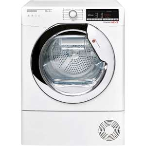 Hoover Dynamic Next DXOH11A2TCEXM Wifi Connected 11Kg Heat Pump Tumble Dryer - White - A++ Rated £499 at ao.com