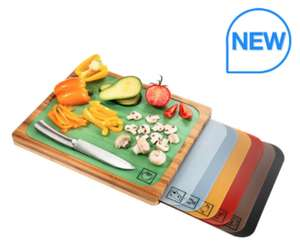 Bamboo Cutting Board with 7 Colour Coded Chopping Mats @ Costco £17.98 in-store
