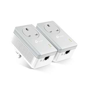 TP-Link TL-PA4010PKIT Passthrough Powerline Adapter Starter Kit, £28.49 at Amazon