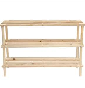Free Standing 3 Tier Wooden Shoe Rack £7.48 delivered from Home Bargains