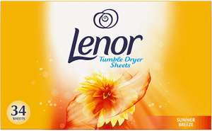Lenor Summer Breeze Tumble Dryer Sheets 34 pack £1.50 + £5 Delivery @ Wilko