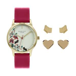 Radley Ladies Red Strap Watch and Earrings Set £49 + £3.95 delivery @ Argos