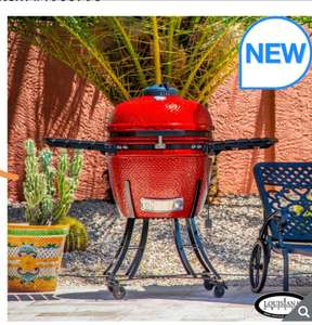 "Louisiana Grills 24"" (60 cm) Ceramic Kamado Charcoal Barbecue in 3 Colours + Cover £649.99 at Costco"