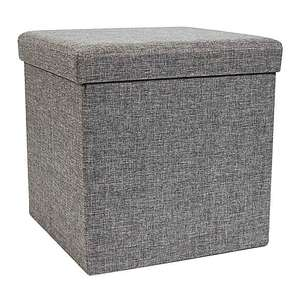Foldable Grey Cube Ottoman £8 plus ( £3.95 delivery ) From Dunelm