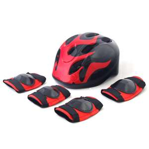Challenge Kid's Bike Helmet, Elbow and Knee Pads - Fire now £7.99 + £3.95 delivery @ Argos