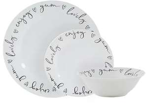 12 Piece Dinner Set Now £14.00 Plus Delivery £3.95 From Dunelm