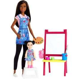 Barbie Career Art Teacher Doll with easel and child for £16.99 delivered (UK mainland) @ BargainMax