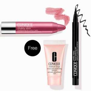 3 Free Samples on a £45 spend, using discount code @ Clinique