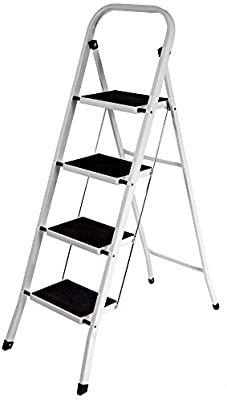Home Vida 4-Step Steel Portable Folding Heavy Duty Ladder - Multi-Colour - £26.24 @ Amazon