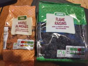 Asda dried fruit and nut repackaging reductions - eg Whole Almonds 150g for 45p instore @ Asda (Brighton)