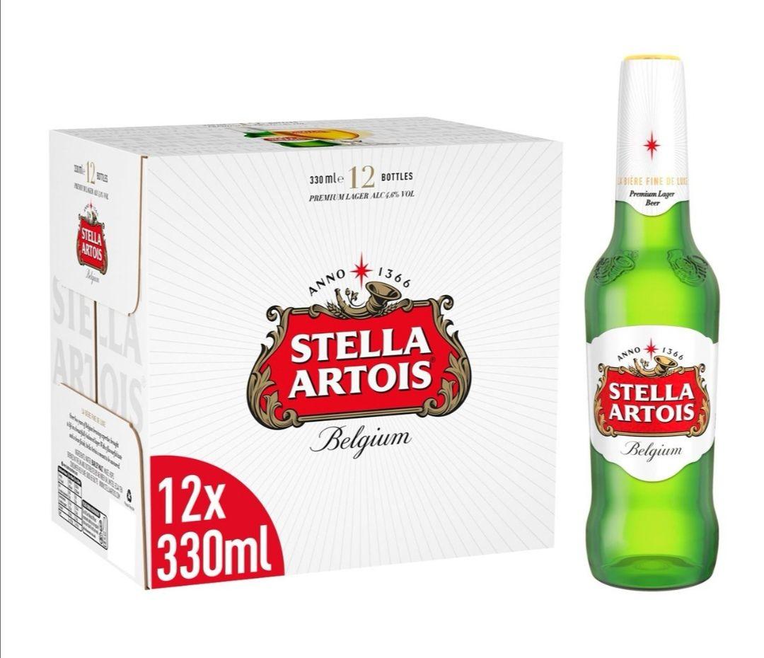 Stella Artois Premium Lager Beer Bottles24 x 330ml £16 (Minimum Basket / Delivery Fees Apply) @ Morrisons