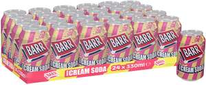 Barr American Cream Soda Fizzy Drink Cans, 330ml, (Pack of 24) £6 (+£4.49 Non Prime) or only £5.10 on Max S&S @ Amazon