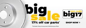 20% off with code @ CarParts4Less