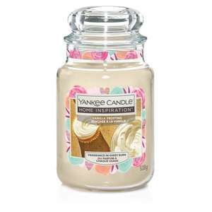Yankee Large Home inspirations 358G Candle - Vanilla Frosting £9 @ Tesco (+ delivery / minimum basket charges apply)