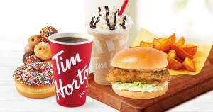50% off entire menu at Tim Hortons Bury Mill Gate (via Deliveroo - delivery fee & 49p service fee applies)