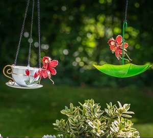 Pair of Tulip Fairy Bird Cup & Umbrella Feeders Now £13.50 with code other designs available Free Delivery @ Olive & Sage