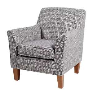 Argos Home Soren geometric fabric Accent chair in charcoal and white for £126.94 delivered @ Argos