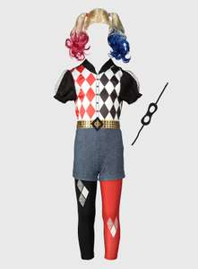 DC Comics Harley Quinn Fancy Dress Costume - in 9-10 years only £6 + £3.95 delivery at Argos