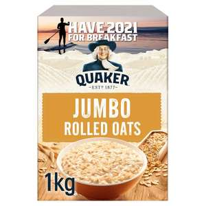 Quaker Porridge Rolled Oats 1kg or Original Oats £2 / 20x27g Sachets / Golden Syrup 18x36g £2 (+ Delivery Charge / Min Applies) @ Tesco