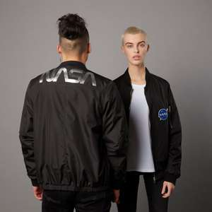 Nasa Badged Bomber Jacket £19.99 with £2.99 Delivery From IWOOT