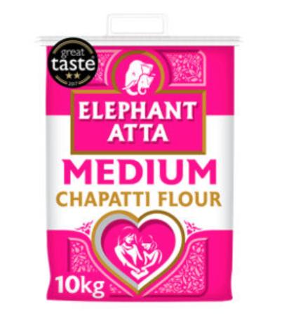Elephant Atta Medium Chapatti Flour 10kg £5 @ Asda (+ delivery / minimum basket charges apply)