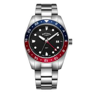 Rotary Men's Stainless Steel Bracelet Watch Now £79.99 with Code + Free Delivery From H Samuel