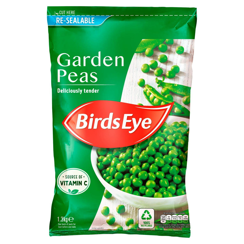 Birds Eye Garden Peas (1.3kg) - £2.50 Clubcard Price (Minimum Basket / Delivery Fees Apply) @ Tesco