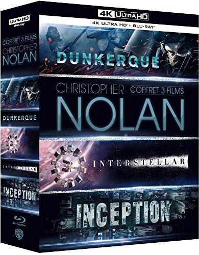 Christopher Nolan 3 Films set: Dunkirk / Interstellar / Inception - Blu-Ray 4K + Blu-Ray, £29.59 (UK Mainland) at Amazon France
