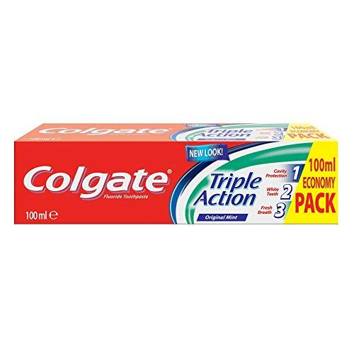 Colgate Triple Action Toothpaste, 100 ml - 98p Prime (+£4.49 Non Prime) @ Amazon