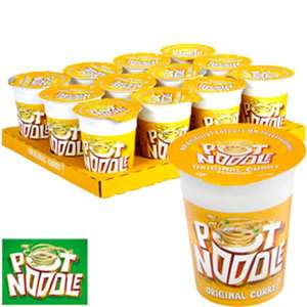 Pot Noodles (Choice of 3 Flavours) 12 Pots Cases are £5 @ Farmfoods