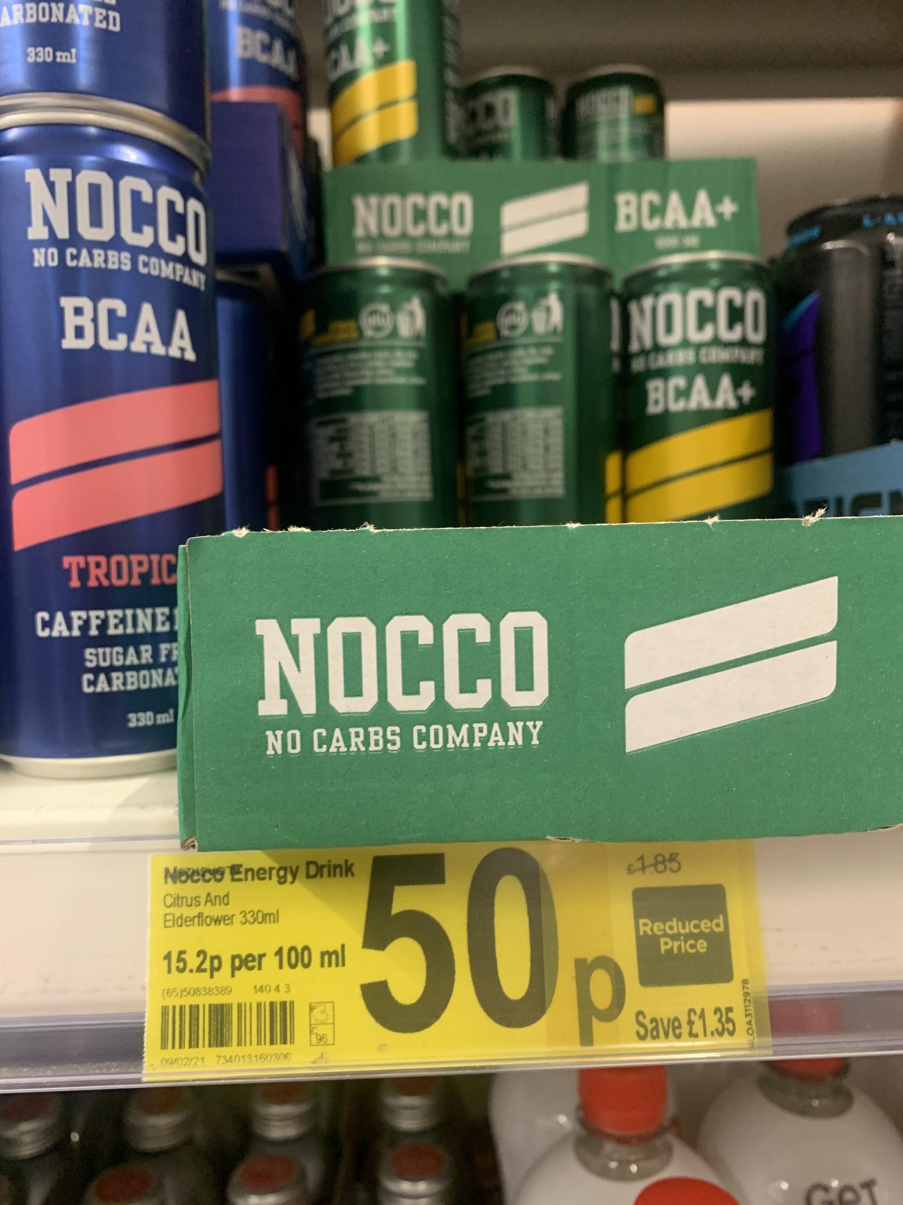 Nocco Energy Drink Citrus / elderflower 50p instore @ Asda (Burton on Trent)
