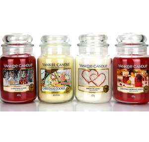 4x Yankee Candle Classic 623g Large Jars, Christmas Festive Selection Box - £38 delivered @ Yankee Bundles