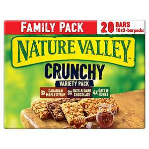 Nature Valley Crunchy Variety Family Pack Cereal Bars, (10x42g) - £2.50 (+£4.49 Non-Prime) @ Amazon