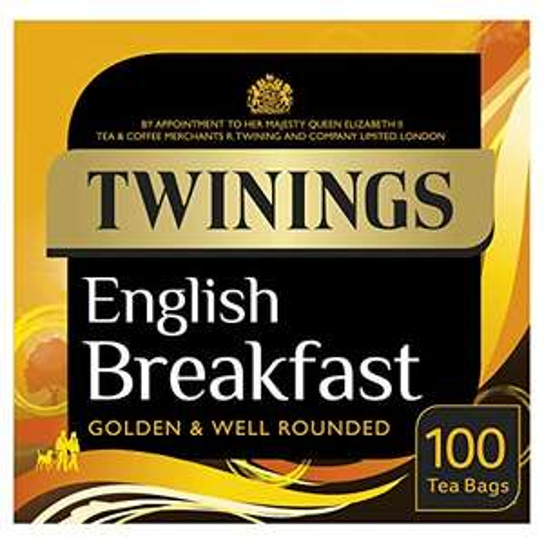 Twinings English Breakfast Tea, 100 Tea Bags, 250 g £2.50 / £2.25 S&S (Prime) + £4.49 (non Prime) at Amazon