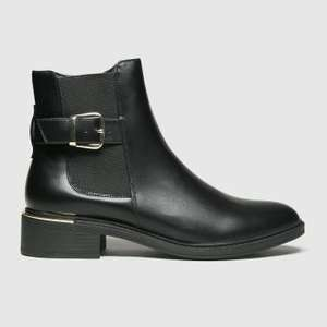 Women's Black Chelsea Boots With Buckle - £9.99 (+£3 Delivery) @ Schuh