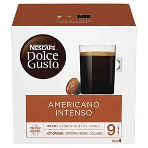 Nescafé Dolce Gusto Americano Intenso Coffee Pods, 16 Capsules - £2.99 delivered Prime (Non-Prime + £2.99) @ Amazon