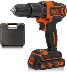 BLACK+DECKER 18 V Cordless 2-Gear Combi Hammer Drill Power Tool with Kitbox, 1.5 Ah Lithium-Ion - £48 (Dispatched within 1 to 2 m ) @ Amazon