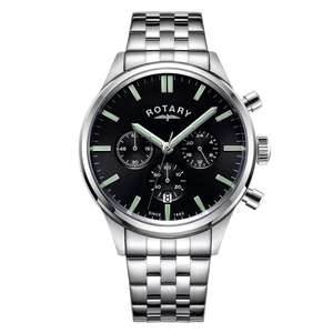 Rotary Men's Stainless Steel Bracelet Chronograph Watch now £74.39 delivered using code @ H Samuel