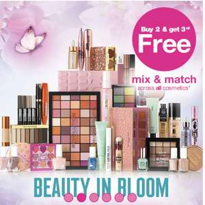 3 for 2 Across ALL Cosmetics + £3 delivery / free over £10 for cardholders or £15 for non cardholders @ Superdrug