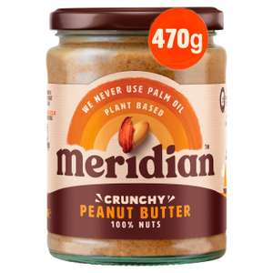 Meridian Crunchy or Smooth Peanut Butter 470g - £2 (Min Spend / Delivery Fee Applies) @ Morrisons